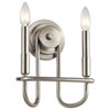 This item: Capitol Hill Brushed Nickel Two-Light Wall Sconce