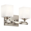 This item: Marette Brushed Nickel Two-Light Bath Vanity