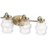This item: Janiel Classic Bronze Three-Light Bath Vanity