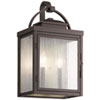 This item: Carlson Rubbed Bronze 18-Inch Two-Light Outdoor Wall Sconce