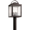 This item: Carlson Rubbed Bronze Four-Light Outdoor Post Lantern