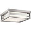 This item: Ryler Brushed Aluminum LED Outdoor Flushmount