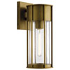 This item: Camillo Natural Brass Six-Inch One-Light Outdoor Wall Mount