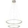 This item: Hyvo Brushed Nickel 37-Inch Two-Light LED Chandelier