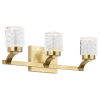 This item: Rene Champagne Gold 19-Inch Three-Light LED Bath Vanity