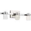 This item: Vada Polished Nickel 22-Inch Three-Light LED Bath Vanity