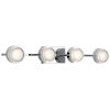 This item: Harlaw Chrome 31-Inch Four-Light LED Bath Vanity