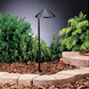 This item: Six Groove Textured Black 19.5-Inch One-Light Landscape Path Light