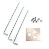 This item: Steel Landscape Bollard Template Kit