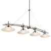 This item: Structures Brushed Nickel Four-Light Island Pendant