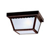This item: Tannery Bronze Two-Light Outdoor Flush Mount