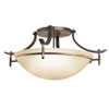 This item: Olympia Olde Bronze Semi-Flush Ceiling Light