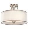 This item: Lacey Antique Pewter Three-Light Semi-Flush Mount