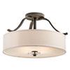 This item: Leighton Olde Bronze Four-Light Semi-Flush Mount