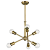 This item: Armstrong Natural Brass 20-Inch Six-Light Chandelier