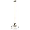 This item: Davenport Antique Pewter 12-Inch One-Light Pendant and Semi-Flush Mount