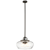 This item: Davenport Olde Bronze 18-Inch Three-Light Pendant and Semi-Flush Mount