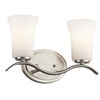 This item: Armida Brushed Nickel Two-Light Wall Mounted Bath Fixture