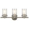 This item: Brinley Brushed Nickel 24-Inch Three-Light Bath Light
