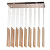 This item: Flute Rose Gold 35-Light LED Linear Pendant