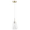 This item: Brik Satin Brass One-Light LED Pendant