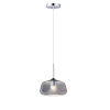 This item: Deuce Polished Chrome One-Light LED Mini Pendant with Smoke Glass
