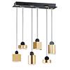This item: Nob Black and Gold Six-Light LED Linear Pendant