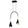 This item: Mermaid Black and Metallic Gold Two-Light LED Single Pendant
