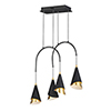 This item: Mermaid Black and Metallic Gold Four-Light LED Linear Pendant