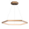 This item: Hex Brushed Champagne 31-Inch One-Light LED Suspension Pendant