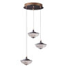 This item: Bella Bronze and Gold Three-Light LED Multi-Light Pendant With Prismatic Clear Glass