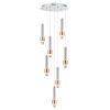 This item: Reveal Satin Nickel and Satin Brass 18-Inch Seven-Light LED Pendant