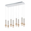This item: Reveal Satin Nickel and Satin Brass 10-Inch Eight-Light LED Mini Pendant