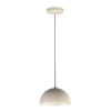 This item: Hemisphere Gloss Taupe and Aluminum 9-Inch LED Pendant