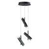 This item: Ambit Black and Satin Nickel Six-Light LED Pendant