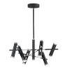 This item: Ambit Black and Satin Nickel 12-Light LED Mini Pendant