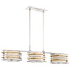 This item: Levels Polished Nickel and Honey Gold LED Island Pendant with White Linen Shade