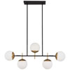 This item: Alluria Weathered Black with Autumn Gold Five-Light Island Pendant