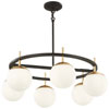 This item: Alluria Weathered Black with Autumn Gold Six-Light Chandelier
