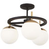This item: Alluria Weathered Black with Autumn Gold Three-Light Semi Flush Mount