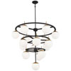 This item: Alluria Weathered Black with Autumn Gold 16-Light Chandelier