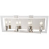 This item: Crystal Chrome Polished Nickel Four-Light Bath Vanity
