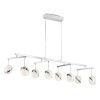 This item: Silver Slice Chrome 13-Inch Eight-Light LED Island Chandelier