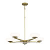 This item: Soft Brass Finish LED Five-Light 30-Inch chandelier  With Etched Opal Glass