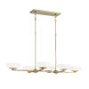 This item: Soft Brass Finish LED Six-Light 40-Inch island With Etched Opal Glass