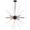 This item: Spiked Painted Bronze with Natural Brass 31-Inch Six-Light Pendant