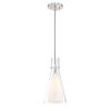 This item: Taper Brushed Nickel 7-Inch One-Light Mini Pendant