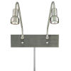 This item: Save Your Marriage Brushed Nickel 19-Inch Two-Light LED Wall Sconce