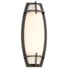 This item: Morida Pebble Bronze Outdoor LED Wall Sconce