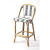This item: Lila Blue and White Bar Stool